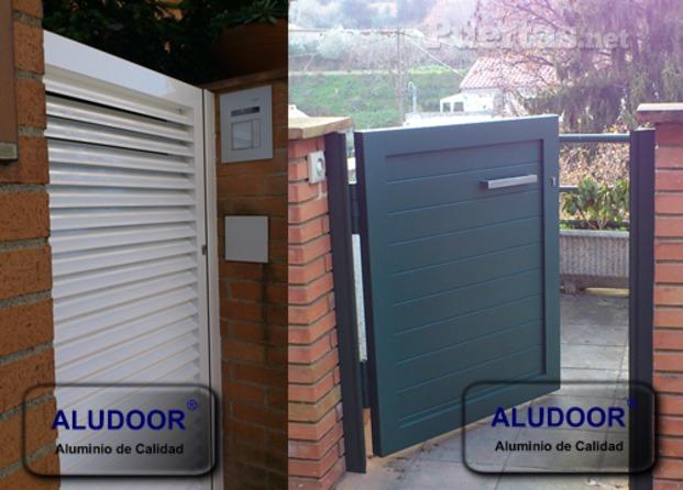 Im genes de aludoor puertas vallas y cancelas de aluminio de calidad - Puertas para vallas ...