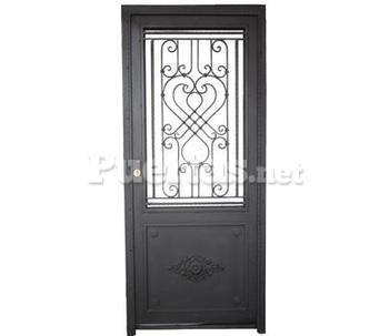 Puerta modelo d for Fotos de puertas de metal