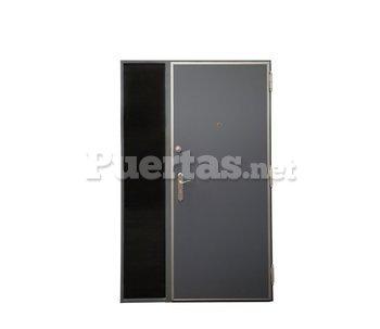 Puerta para exteriores de aluminio gris for Catalogo puertas aluminio exterior