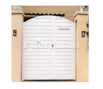 Puerta ciega for Puertas jardin aluminio