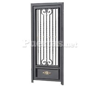 Puertas de metal para casas amazing puertas de bao for Modelo de puerta principal de metal