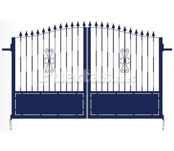 Puerta doble teide - Puertas de hierro para exteriores ...