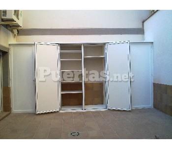 Armario aluminio exterior for Puertas de aluminio a medida