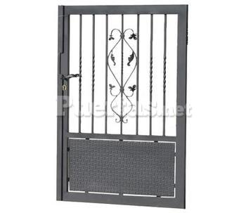 Puerta canig for Puertas metalicas para patio
