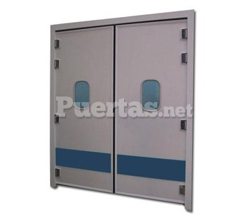 Puerta batiente en polietileno con mirilla - Mirillas para puertas precio ...