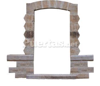 Puerta ventana y muros de piedra natural for Las puertas de piedra amazon
